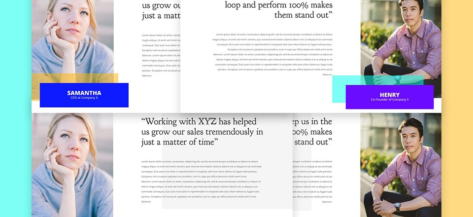 How to Create Unique Hover Overlaps for Testimonials with Divi