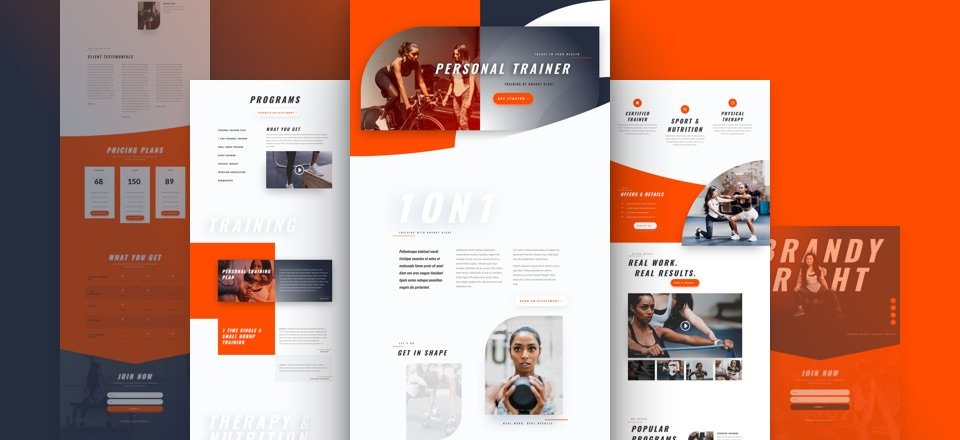 Get a FREE Personal Trainer Layout  Pack for Divi