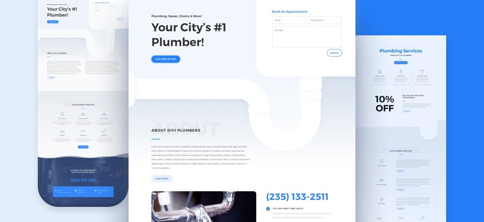 Get a FREE Plumber Layout Pack for Divi