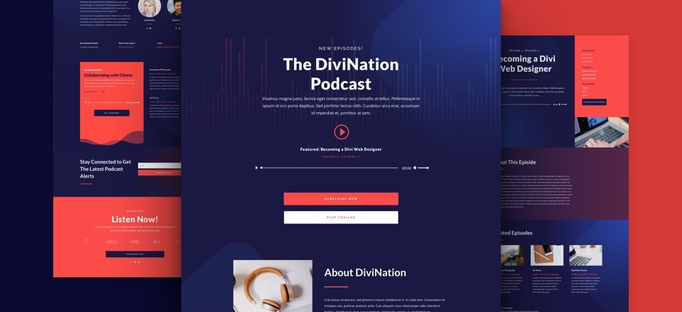 Get a FREE Podcast Layout Pack for Divi