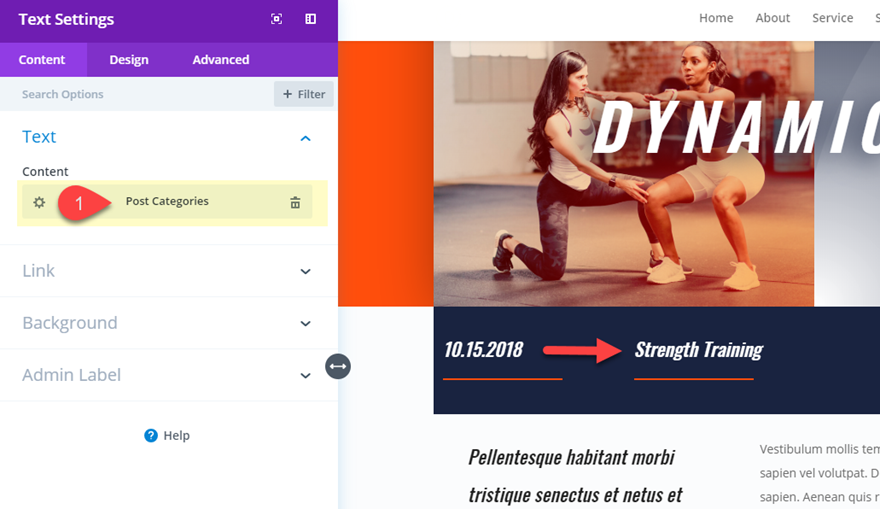 dynamic post layout