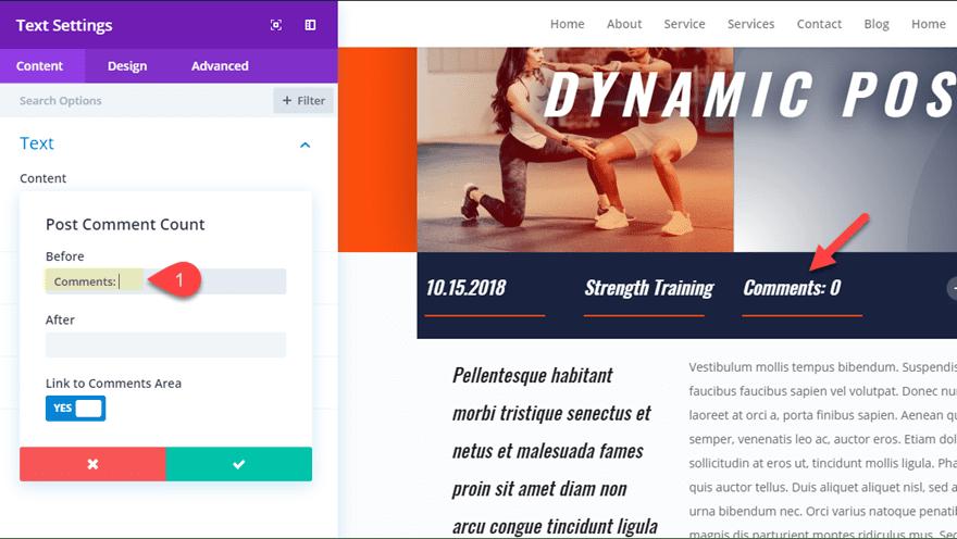 dynamic post layout