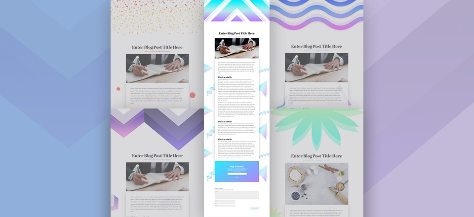 Download 5 Vibrant Background Styles for Your Divi Blog Posts