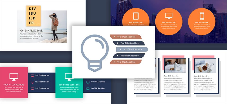 5 Creative Divi Blurb Module Designs