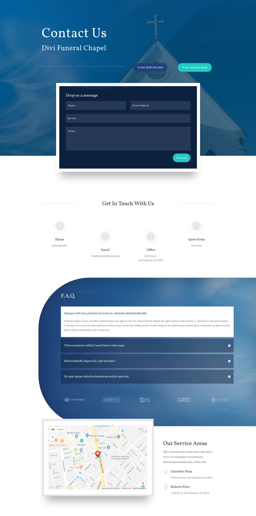 divi funeral home layout