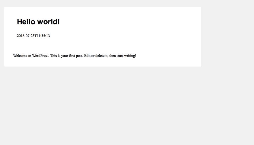 Основное-WordPress реагировать-приложение-окончательный результат