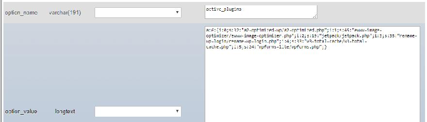 disable wordpress plugins