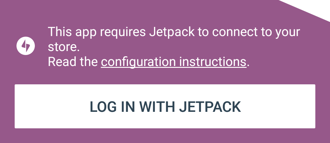 Connect to your store using Jetpack.