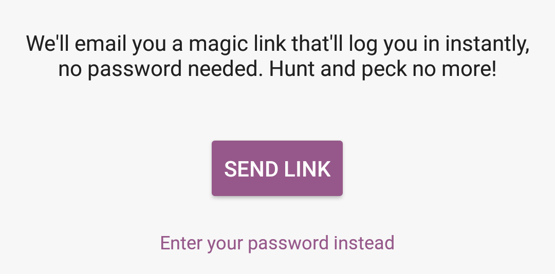 Using a link to instantly log into your store.