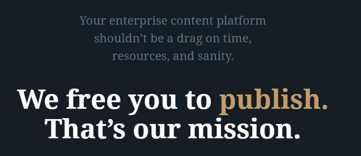 The WordPress VIP homepage.