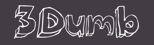 The 3Dumb font.
