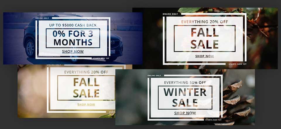 Download a FREE Multipurpose Sales Banner Design for Divi