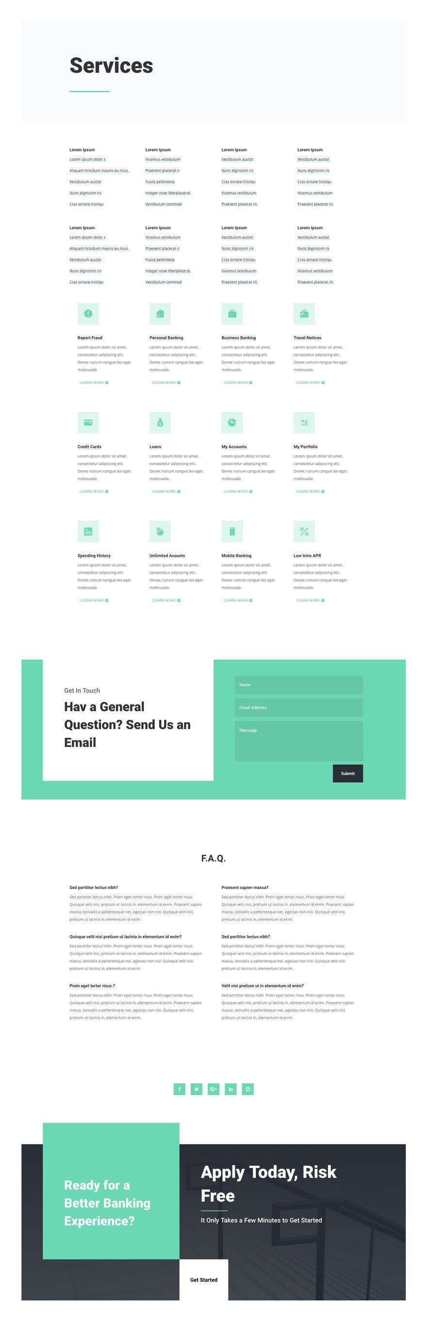 bank layout pack