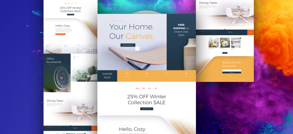 How to Add Your Best Customer Reviews to Divi's Exclusive Cyber Monday Furniture Sale Landing Page Layout