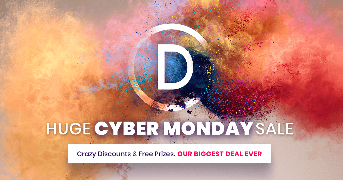 The Divi Cyber Monday Sale Starts Now