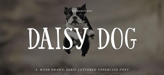 The Daisy Dog font.