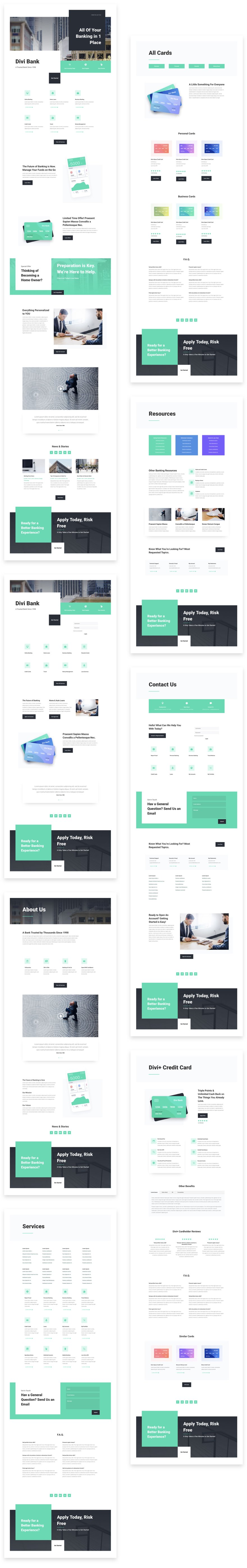 Get a FREE Bank Layout Pack for Divi