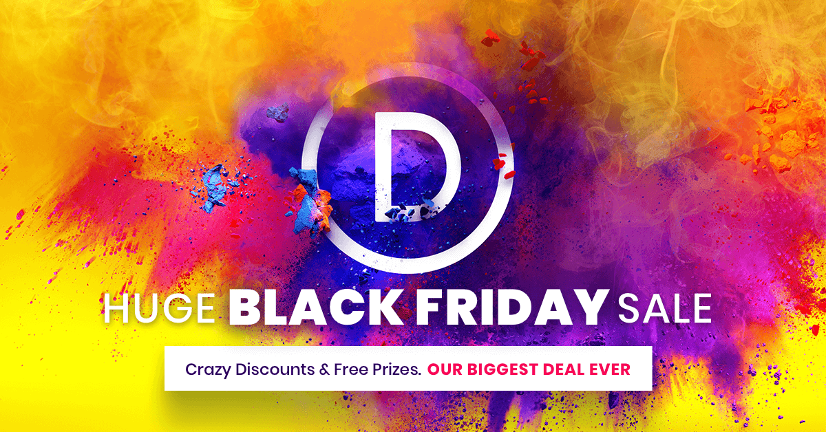 The Divi Black Friday Sale Starts Now!
