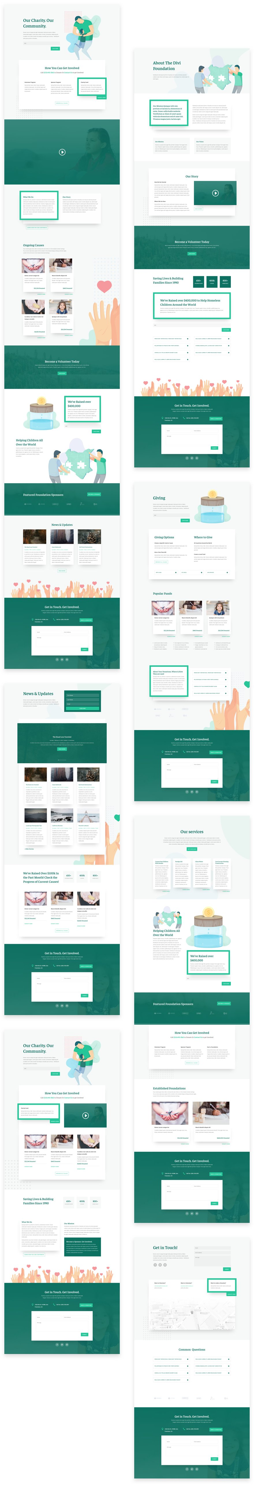 divi charity layout pack
