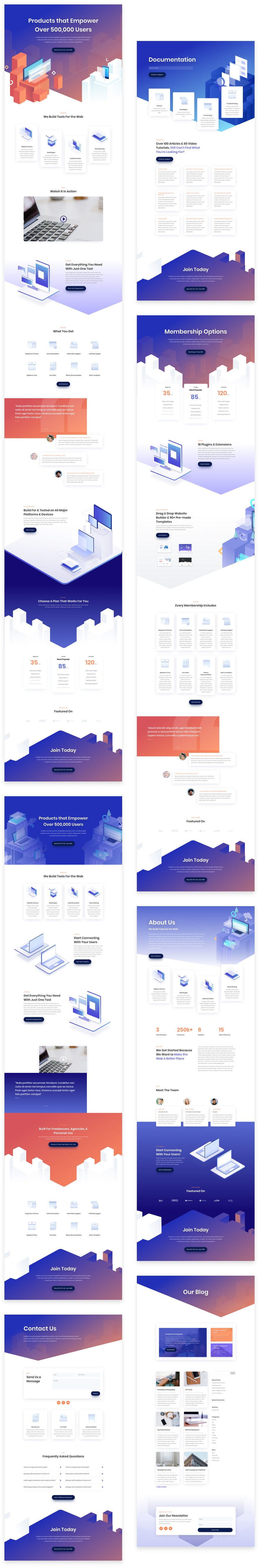 digital product layout