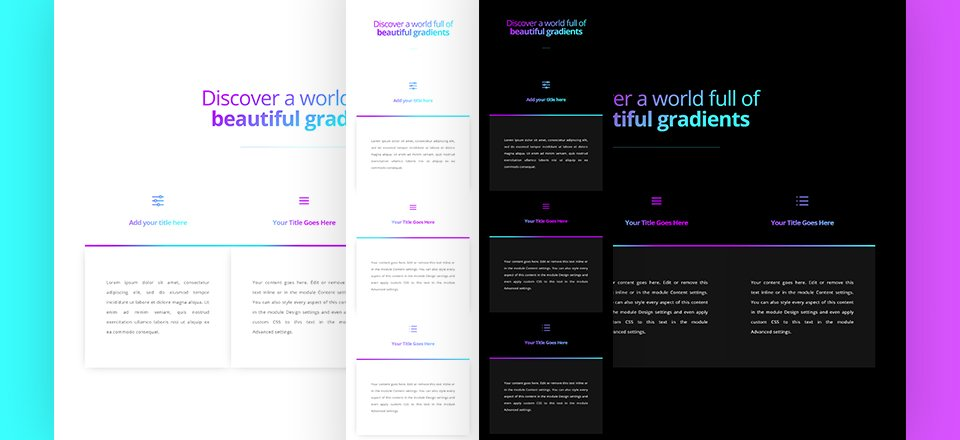 How to Apply a Gradient Text Color to Your Copy Using Divi's Built-in Options Only