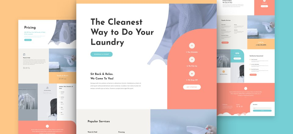 Get a FREE Laundry Service Layout Pack for Divi