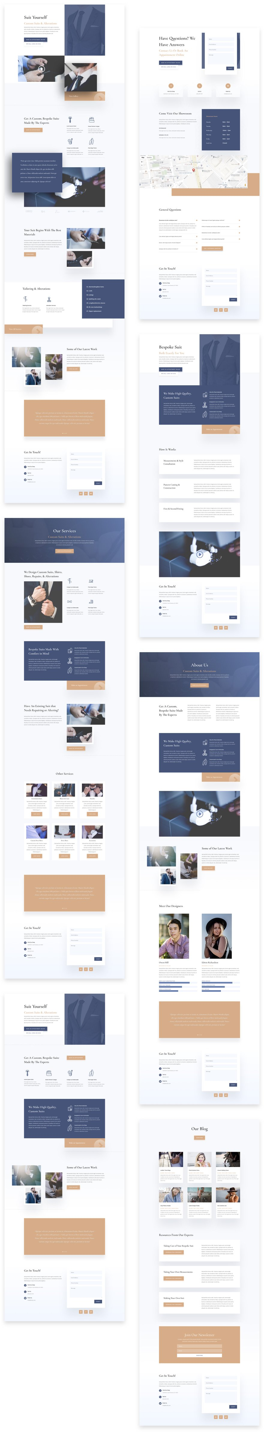 Get a FREE Suit Tailor Layout Pack for Divi