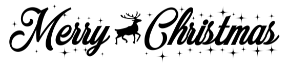 The Merry Christmas font.