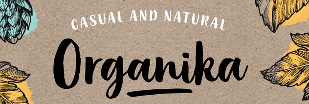 The Organika font.