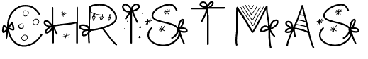 The PW Christmas font.