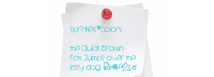The Sprinklescolors font.