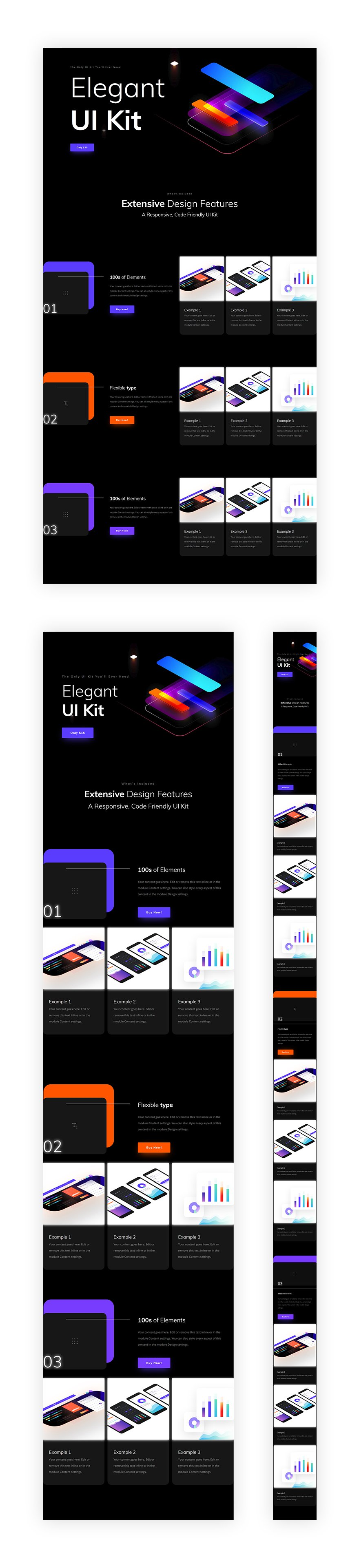 Using Divi's Exclusive Black Friday UI Kit Layout to List Products & Features Beautifully