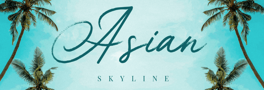 An example of the Asian Skyline font.