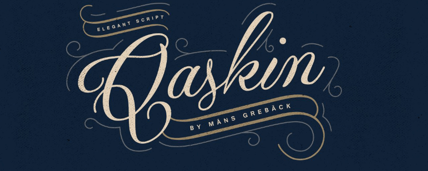 An example of the Qaskin font.