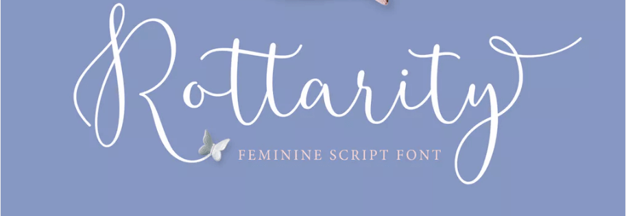An example of the Rottarity Feminine font.