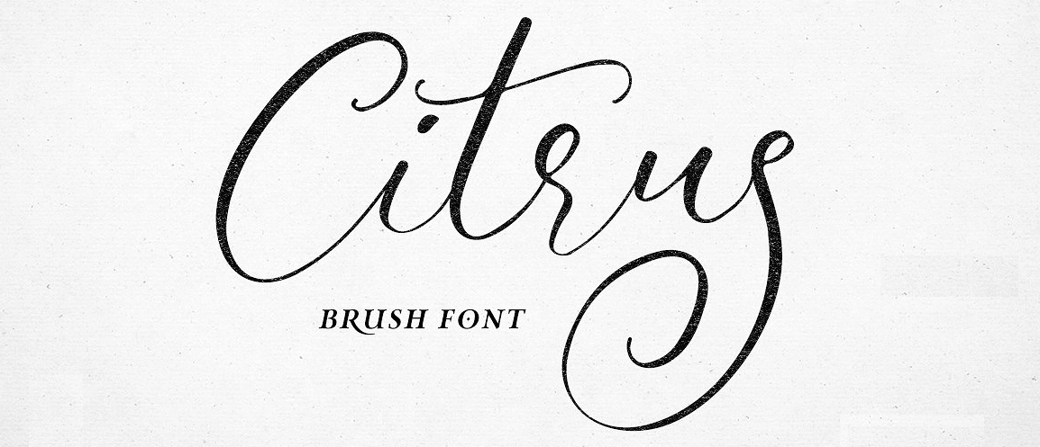 An example of the Citrus font.