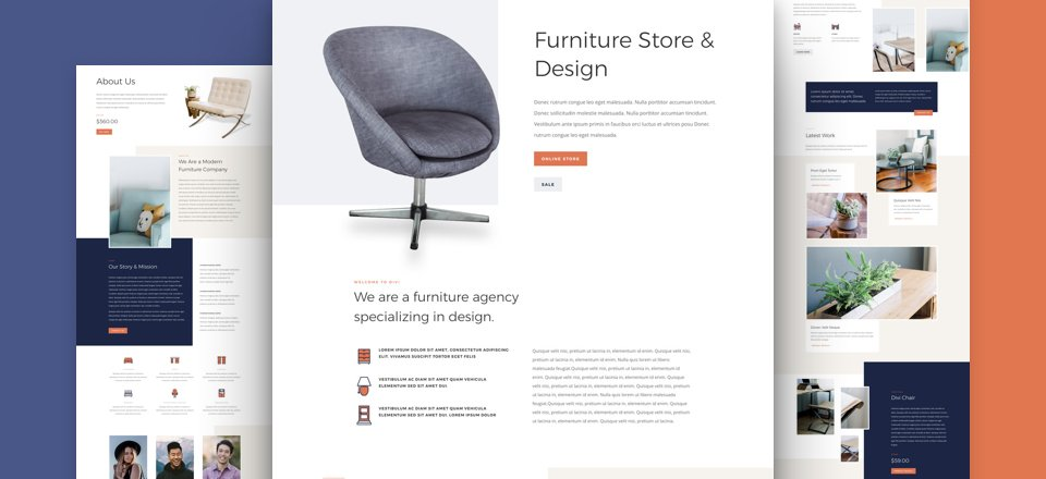 Get a FREE Furniture Store Layout Pack for Divi