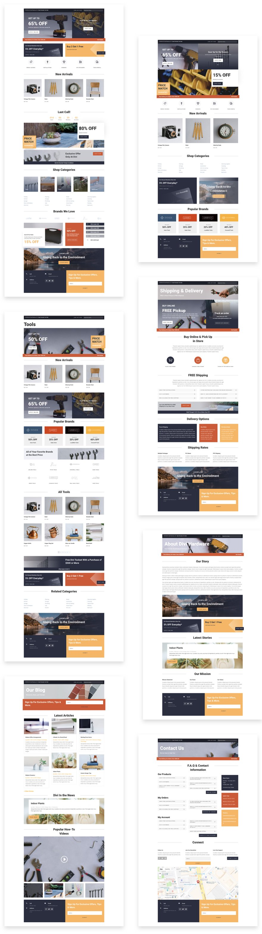 diviwith-border  hardware store layout pack