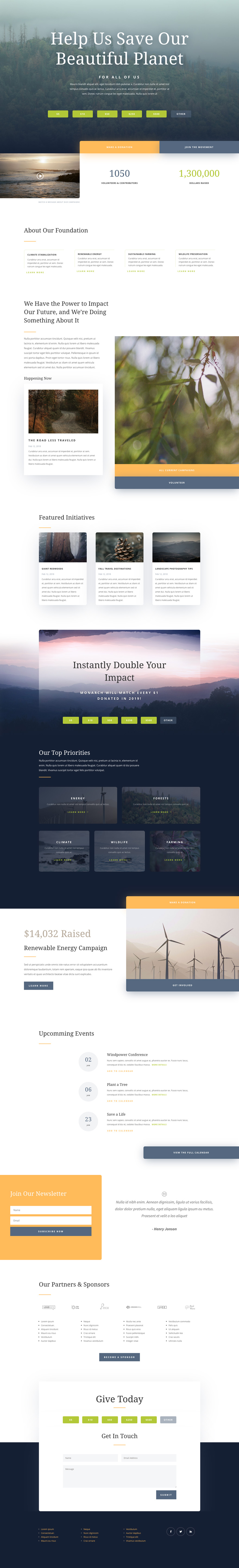environmental nonprofit layout