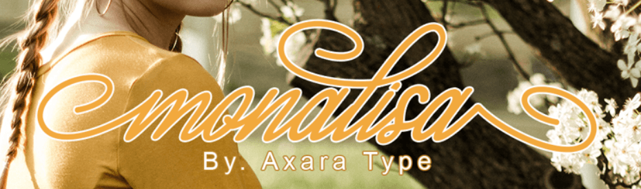 An example of the Monalisa font.