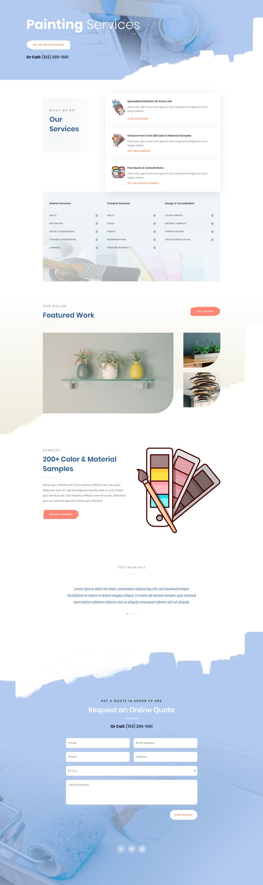 divi painting service layout pack