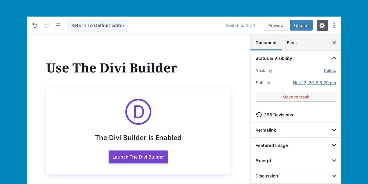 Divi And WordPress 5 0 | Elegant Themes Blog