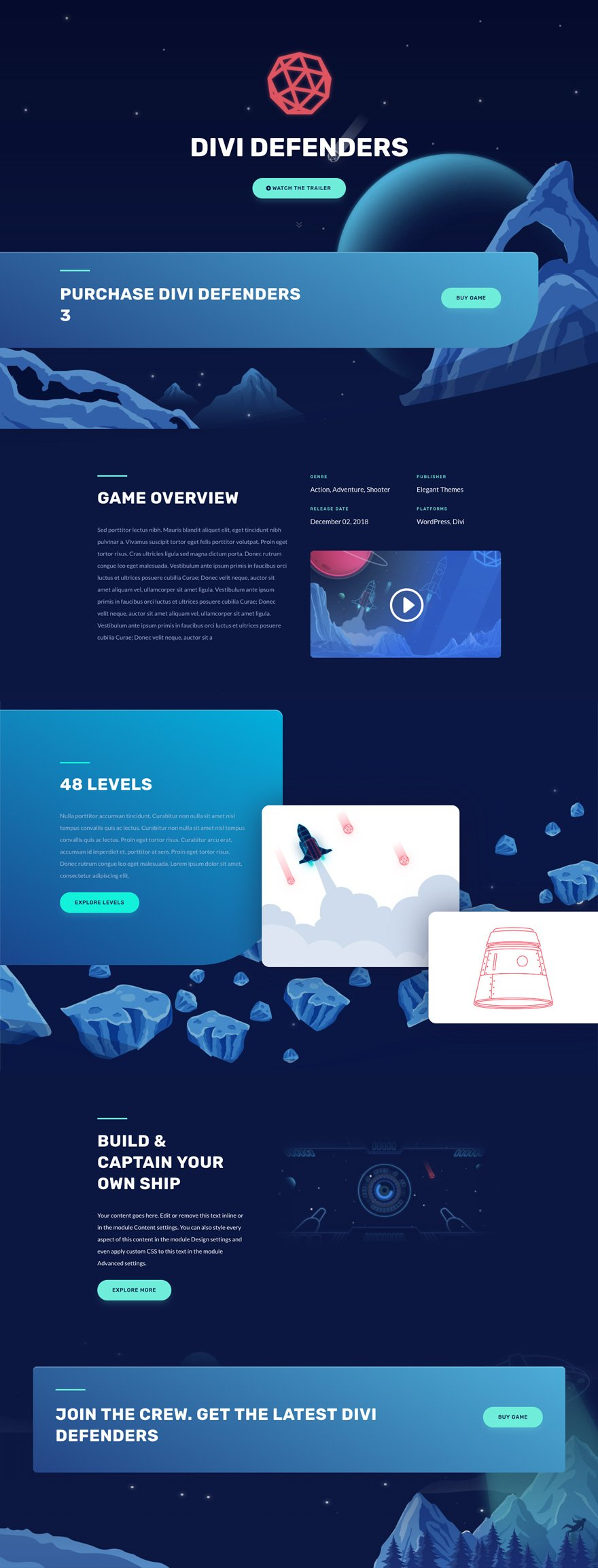 gaming layout pack