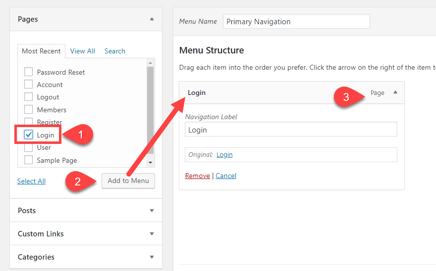 Creating a Custom WordPress Menu Structure