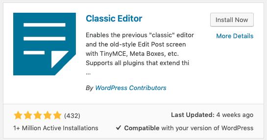 wordpress 5.0 overview