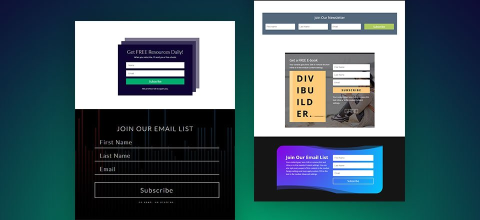 5 Email Opt-in Designs You Can Create with Divi's Email Opt-in Module