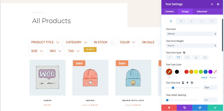How to Create Filtered Sidebars for your Divi WooCommerce Pages