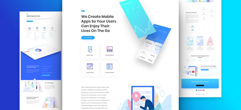 Get a FREE App Developer Layout Pack for Divi