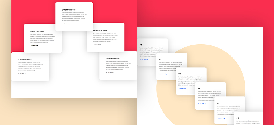 Download 5 FREE CTA Sections with Overlapping Elements for Divi