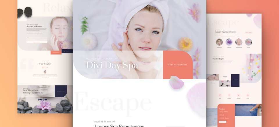 Get a FREE Day Spa Layout Pack for Divi